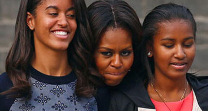 Around the world with Michelle, Malia, and Sasha Obama