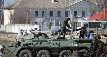 Russia seizes another Crimean base as G-7 emergency summit convenes