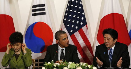 Signs of thaw as Obama brings South Korea, Japan to the table