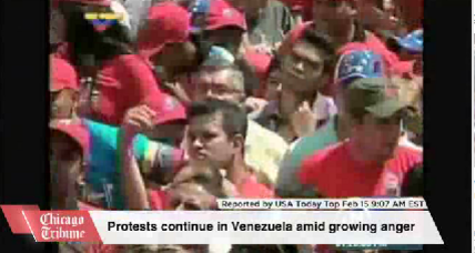 Maduro supporters march following week of violent protests in Caracas