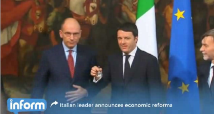 New Italian premier proposes ambitious economic reform