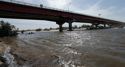 An unusual sight: Water flows in Mexico's Colorado River