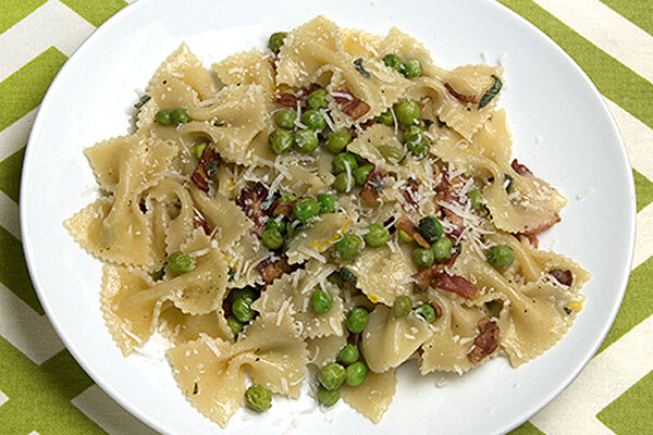 Butterflies and a taste of spring farfalle with peas for 400 sage japanese cuisine