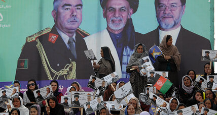 Afghan presidential ticket offers a twist: a female veep (+video)