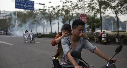 In China, angry protesters force government to reconsider chemical plant