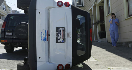Smart car tipping becoming popular with San Francisco vandals