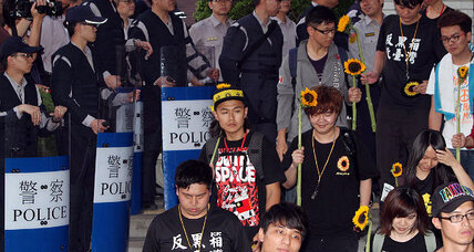 Taiwan's sunflower protesters end parliament blockade with fighting words