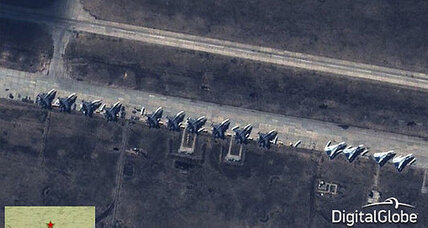 NATO images purport to show Russia 'ready for combat' on Ukrainian border