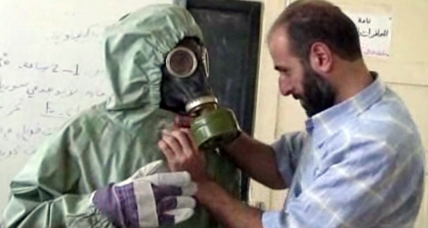 Damascus gas attack: Opposition claims evidence of government chlorine gas attack