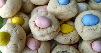 Easter jewel cookies