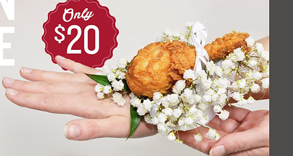 Drumstick corsage from KFC: Are fast food chains this desperate for young customers?