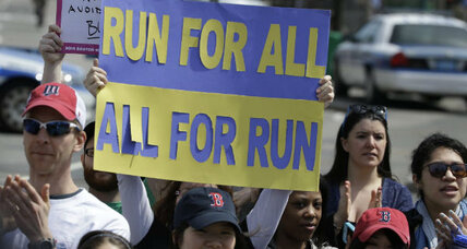 On historic day, Boston keeps calm and marathons on