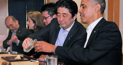 Obama's Japan visit kicks off with dreams of sushi (+video)