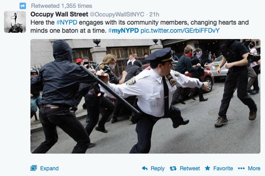 NYPD community-building in the Twitterverse? Why it was a #epicfail.