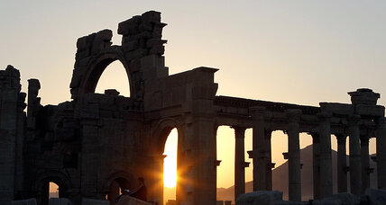 Syrian smugglers enjoy a free-for-all among ancient ruins