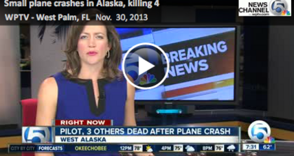 4 killed in Alaska plane crash
