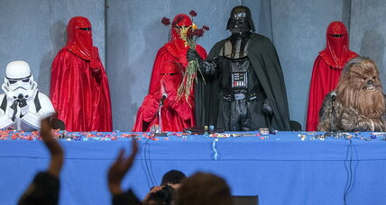 Darth Vader runs for president of Ukraine against billionaire candy maker and others