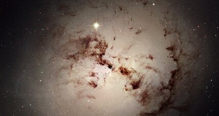 Ravenous galaxy devours neighbor, leaves crumbs