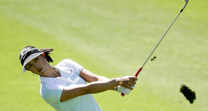 Michelle Wie in contention at LPGA's Kraft Nabisco tournament