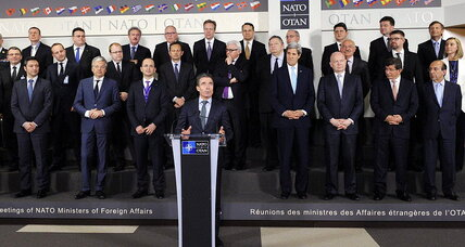 As Russia warns Ukraine, NATO moves to embrace it