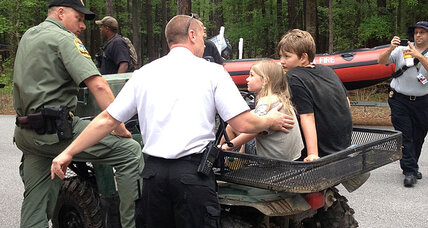 Missing father, two children rescued in South Carolina national park