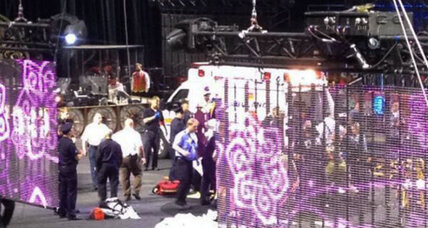 Nine circus performers injured in acrobatics accident