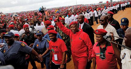 In South Africa, upstart candidate treads a path radically different from Mandela's (+video)
