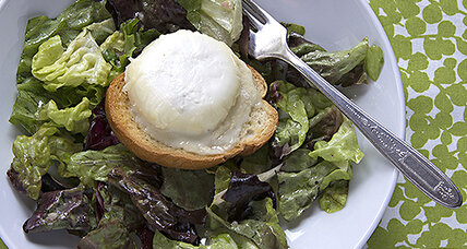 Tasting a 'sense of place' in French chèvre: Salad with baked goat cheese