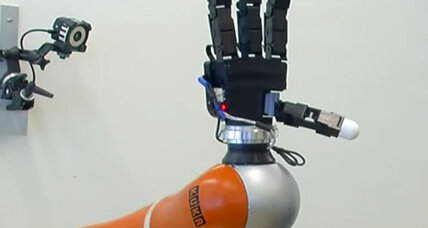 Heads up! Robot arm can catch flying objects.