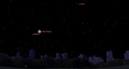 Saturn to shine near moon Tuesday: How to view it
