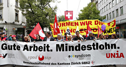A $25 an hour minimum wage? It may happen in Switzerland.