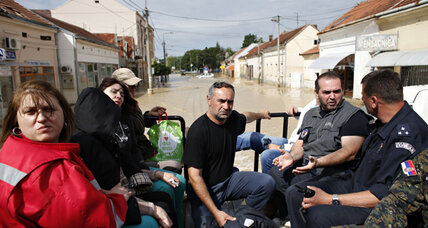 Balkans, riven by war, come together to fight floods