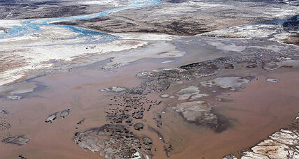 A rare sight: Colorado River connects with Gulf of California