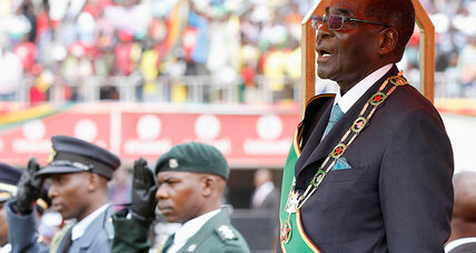 Did Robert Mugabe fake a flood in Zimbabwe this February?