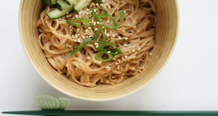 Who needs authentic? Try peanut butter on those sesame noodles.