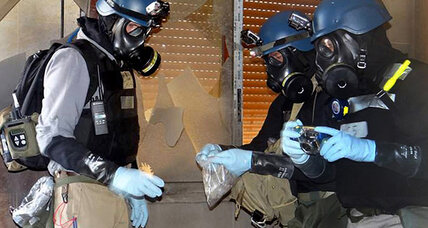 Chemical weapons inspectors attacked in Syria, staff safe