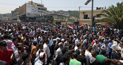 Desperate to cast a ballot, Syrians jam up embassy district in Beirut
