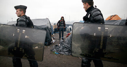 French police raid makeshift camps in Calais, no arrests