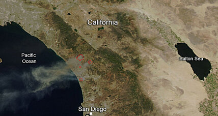 California wildfires can be seen from space. Is that actually impressive?