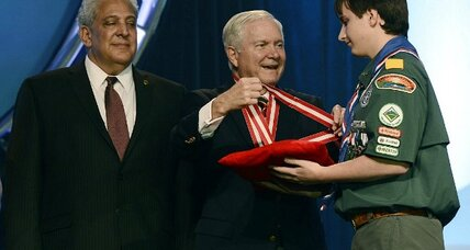 New Boy Scout boss Robert Gates says scouts need a 'blunt talk' about homosexuality