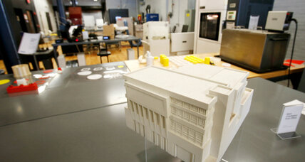 3-D printed buildings emerge from recycled trash