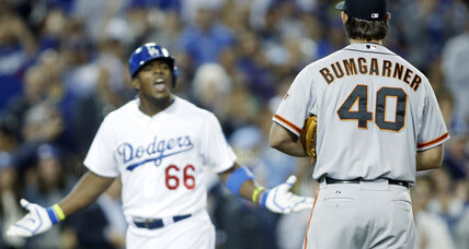 Madison Bumgarner discusses Puig's home run celebration after Giants win