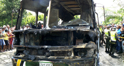 Colombia bus fire kills 32 children