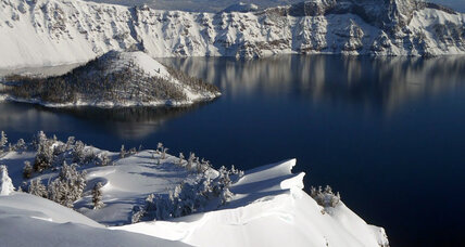 Crater Lake snowshoe hiker may have fallen into water