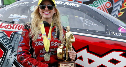 Courtney Force races into the history books in 4.148 seconds