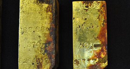 Sunken treasure: 1,000 ounces of gold recovered from sunken ship
