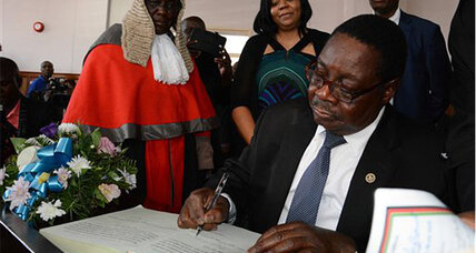 Malawi's new president sworn in despite complaints of election rigging