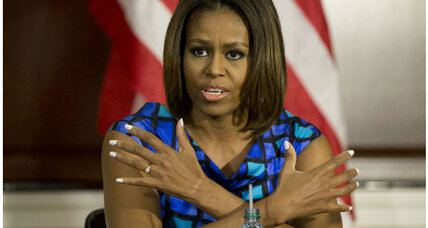 Michelle Obama digs in against weaker school-lunch standards