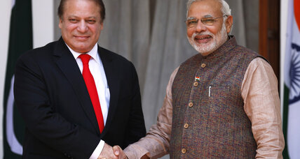 Narendra Modi, India's newest PM, meets Pakistan's Nawaz Sharif
