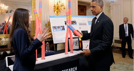 Obama attends White House Science Fair. Did anything blow up? (+video)